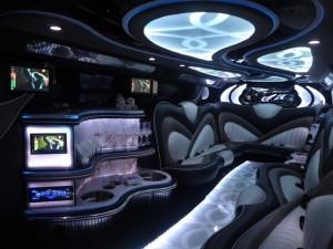 Black Hummer interior