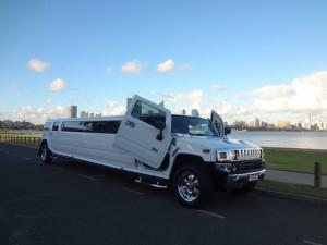 White Hummer Limousine 1