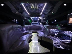 white hummer interior